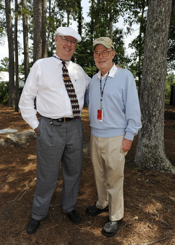 Billy Dettlaff with legendary architect Pete Dye