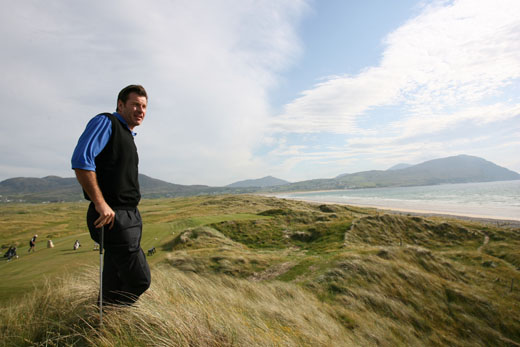 Nick on Ballyliffin Old Links in Donegal