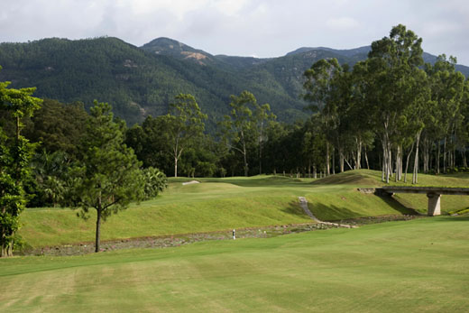 The third hole on the first course in Modern China is a real beauty.