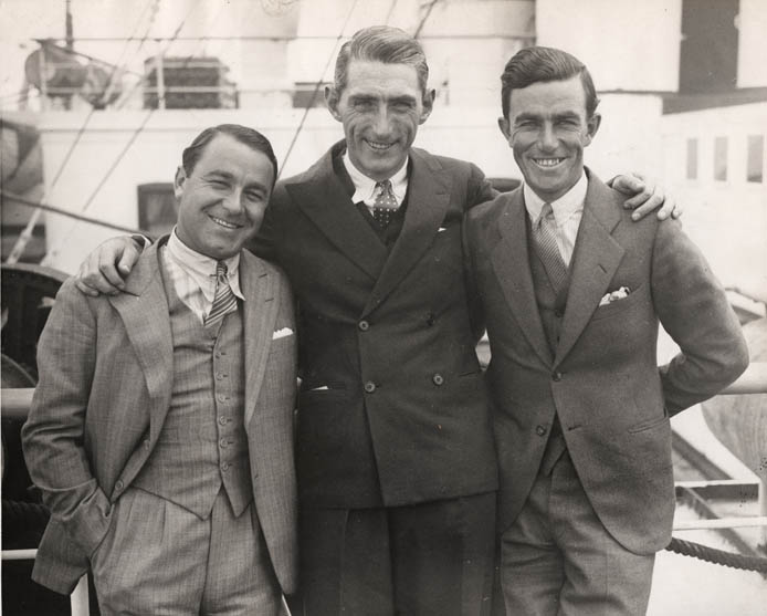Tommy with Gene Sarazen and Johnny Farrell