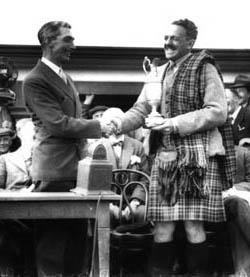 Winning the Claret Jug 1931