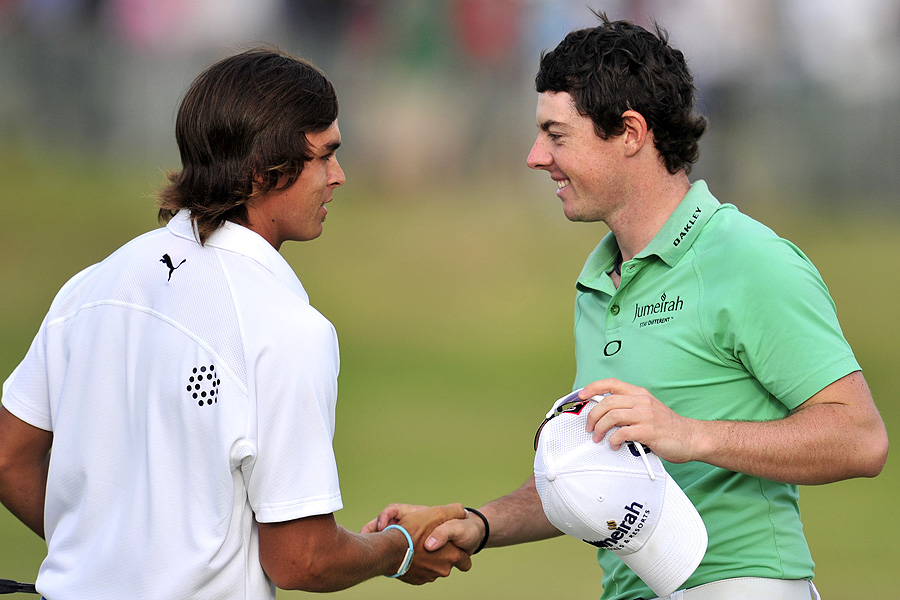 Surprisingly, it was Rickie Fowler, not Rory McIlroy, who fared better over the links at Sandwich when the weather worsened