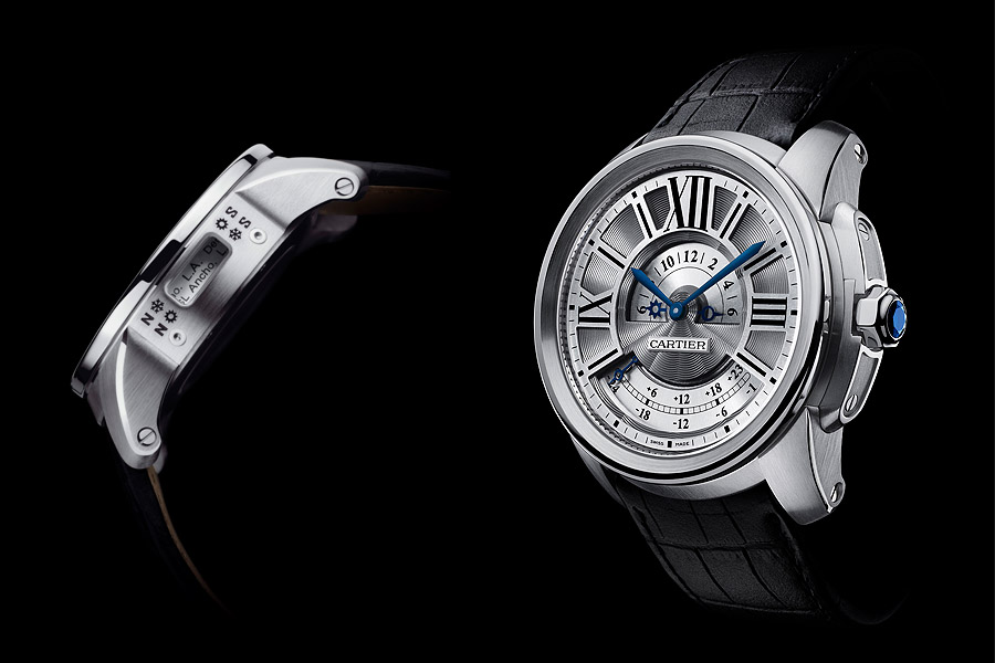Jet-setting style: The Calibre de Cartier Multiple Time Zone is one of the most practical watches of the Cartier High Watchmaking collection