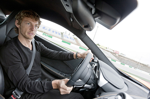 Jenson Button shows our man how it's done at Portugal's Portimao circuit