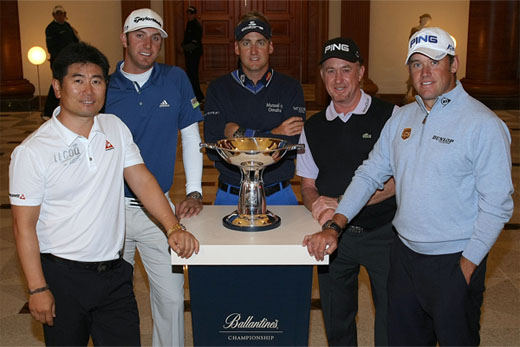 Stars Yang, Johnson, Poulter, Jiménez and Westwood