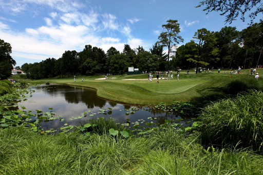 A view of the 11th green at Congressional Country Club