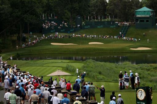 A view of the 10th tee on Day 1 of the US Open at Congressional