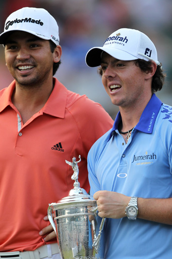 Day and McIlroy after McIlroy claimed the U.S. Open