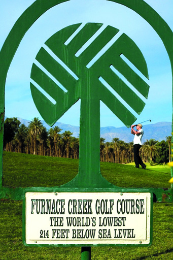 Furnace Creek, the worlds lowest golf course