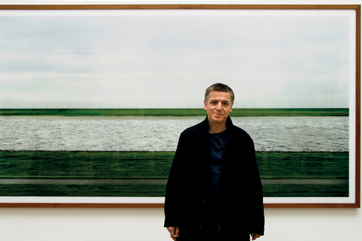 "Andreas Gursky with the US$4.3mm ""Rhein II"", the most expensive photograph ever sold."