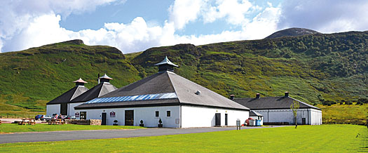 The Arran Malt's distillery at Lochranza
