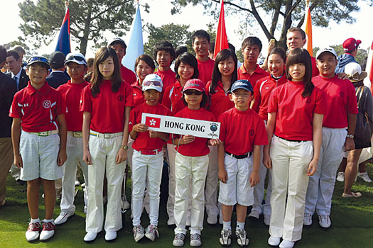 A group shot of the squad at the Callaway World Junior Golf Championships