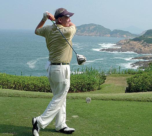 Jim Mailer at the 7th hole at Shek O Country Club