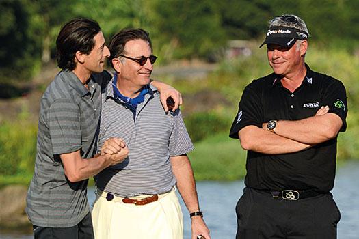 Adrien Brody, Andy Garcia and Darren Clarke