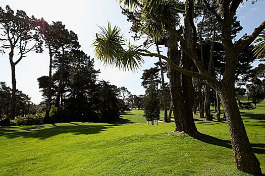 The 670 yards par-five 16th at Olympic Club