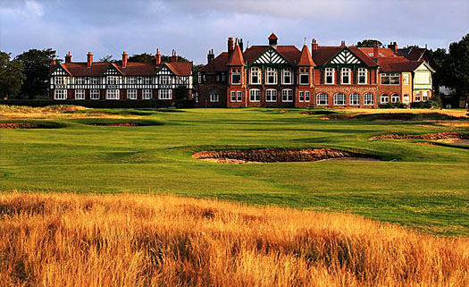 The clubhouse at Royal Lytham and St Annes