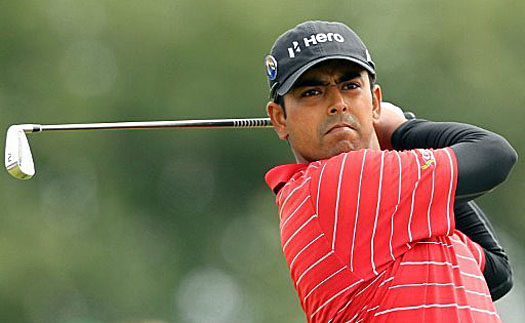 Anirban Lahiri aces the par-3 ninth hole