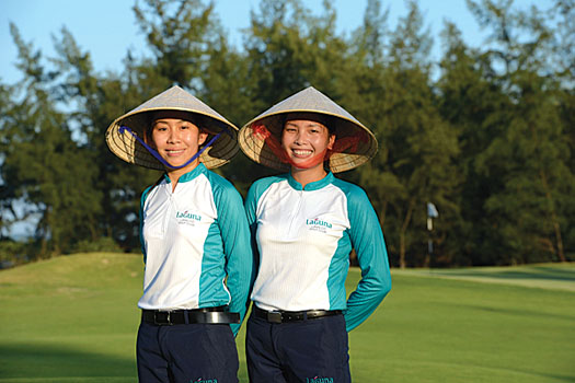 On top of their pay, caddies at Laguna receive a tip from the golfer – typically US$10