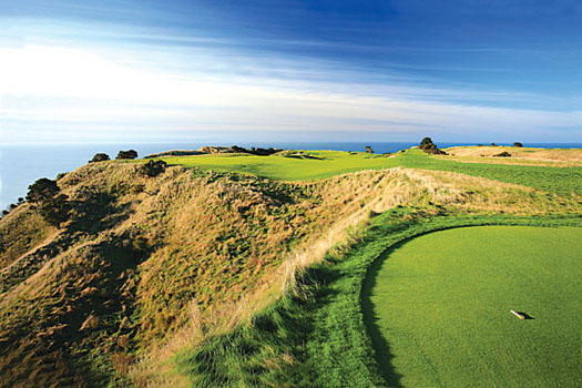 The splendid fifth hole, which asks plenty of questions from the tee