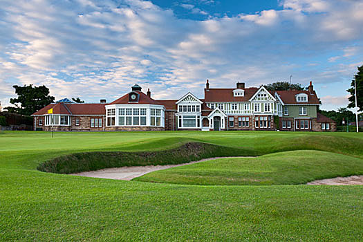 The stout par-four 18th at Muirfield provides a fitting finale