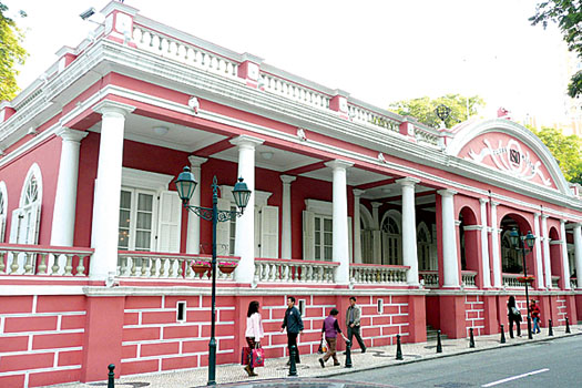 The Clube Militar de Macau, home of an array of fine Portuguese wine