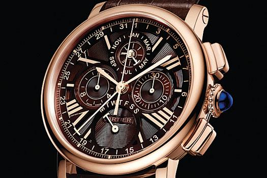 The Rotonde de Cartier perpetual calendar chronograph watch in pink gold