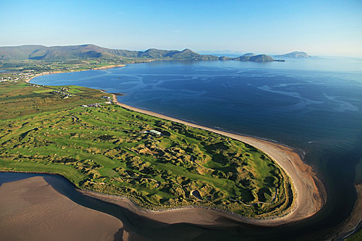 An aerial of Waterville in County Kerry