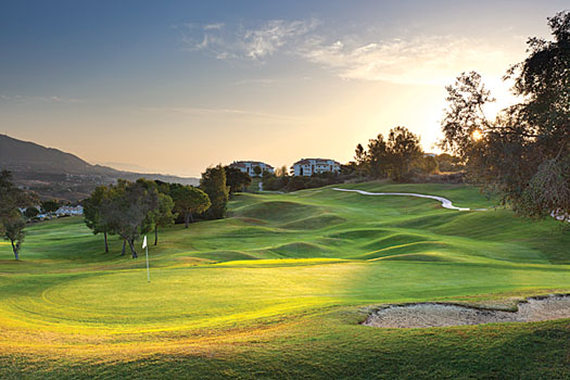 The 17th hole on the Campo America Course at La Cala