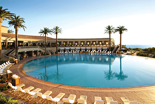 The resort boasts the largest circular pool in the world