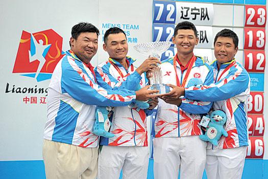 The Hong Kong team won silver medal at the 2013 National Games