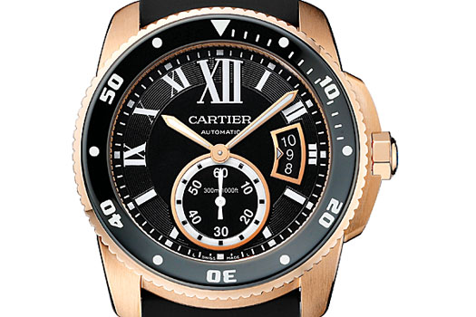 The Calibre de Cartier Diver, seen here in its pink gold livery