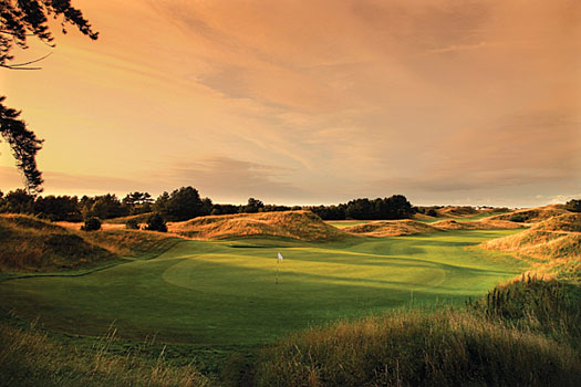 This rumpled fairway, surrounded by windswept dunes, is typical at Royal Liverpool