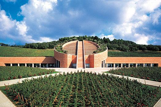 The Mario Botta-designed winery at Petra in Tuscany