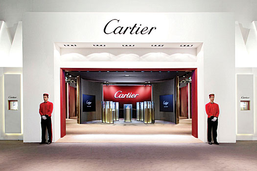 The Cartier booth at this year's Watches & Wonders event