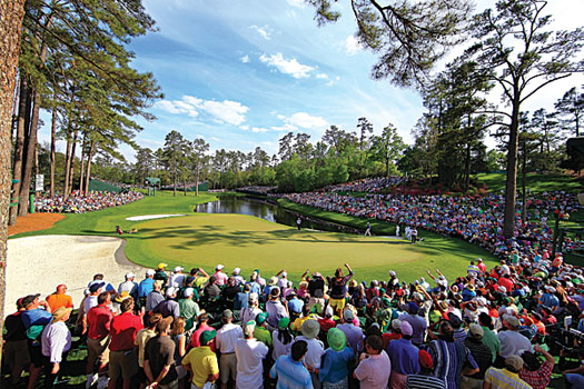 The sublime conditioning at Augusta National Golf Club