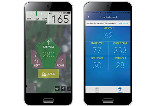 Complete Golf utilizes a 'Tap & Go' approach to record scores and track statistics