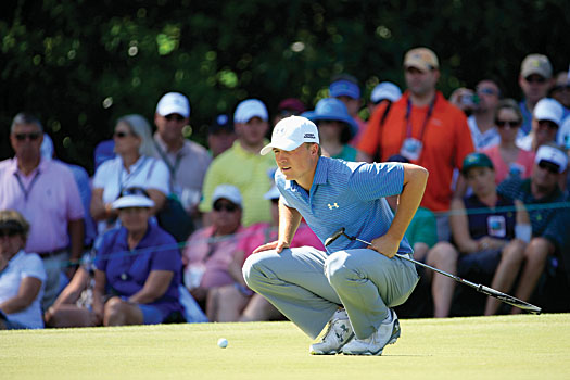 Jordan Spieth was exceptional all week on the greens