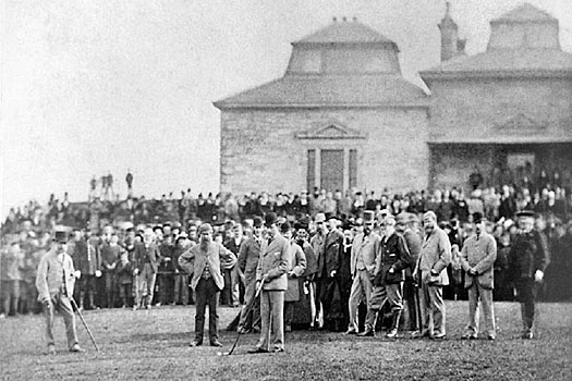 Prince Leopold's driving ceremony and an exhibition match involving Old Tom Morris delayed the 1876 Open play-off by a day