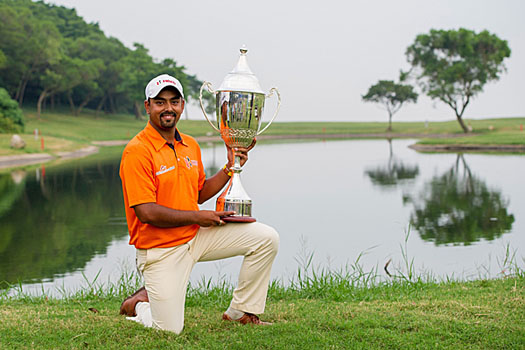 Anirban Lahiri put in a brilliant performance last October to claim the title for the first time