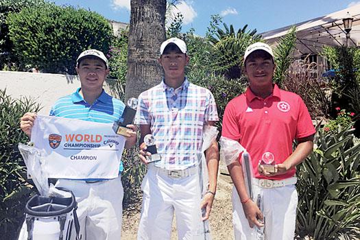 Wong Lok-yin, Cyrus Lee and Leon D'Souza