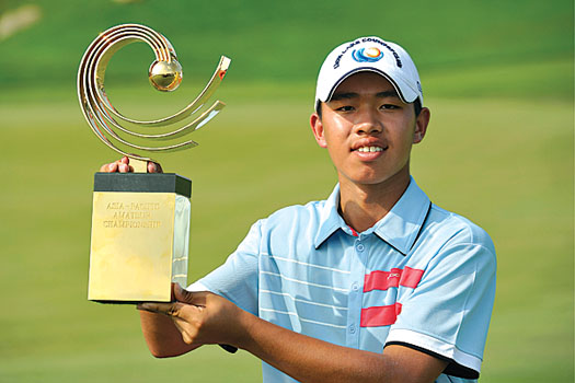 Guan Tianlang won the 2012 Asia-Pacific Amateur Championship at Amata Spring in Thailand