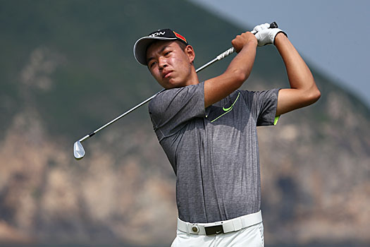 Jin Cheng, 17, fired a new course record 62 during the opening round