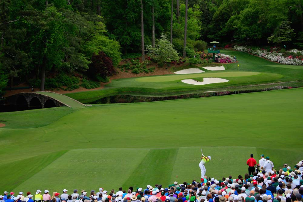 The famous par-3 12th at Augusta National only measures 155 yards and yet still manages to strike fear into the hearts of all who play it