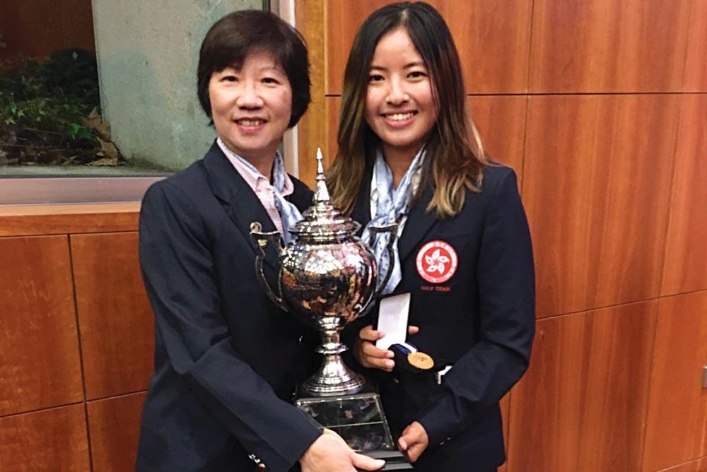 Tiffany Chan and Margaret Hamilton, the Hong Kong Ladies Captain