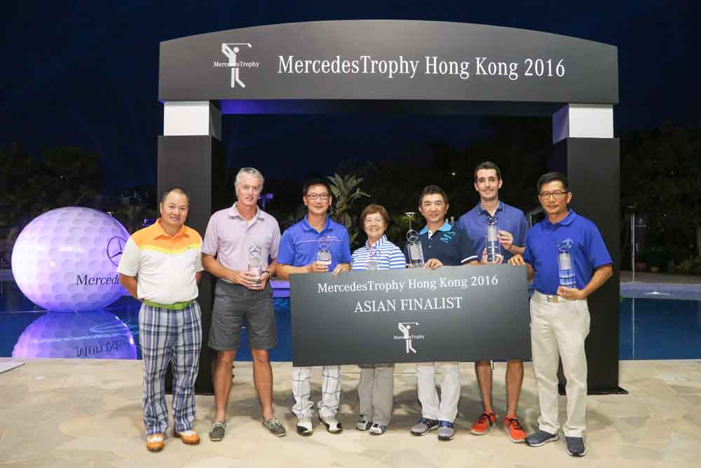 The event's winners who will represent Hong Kong at the MercedesTrophy Asian Final