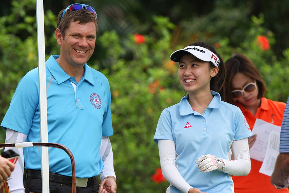 National Coach Brad Schadewitz and Kitty Tam