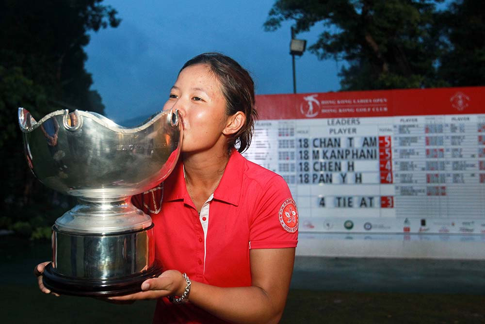 Tiffany Chan boosted her Olympic hopes with a nerveless play-off victory for her second professional title