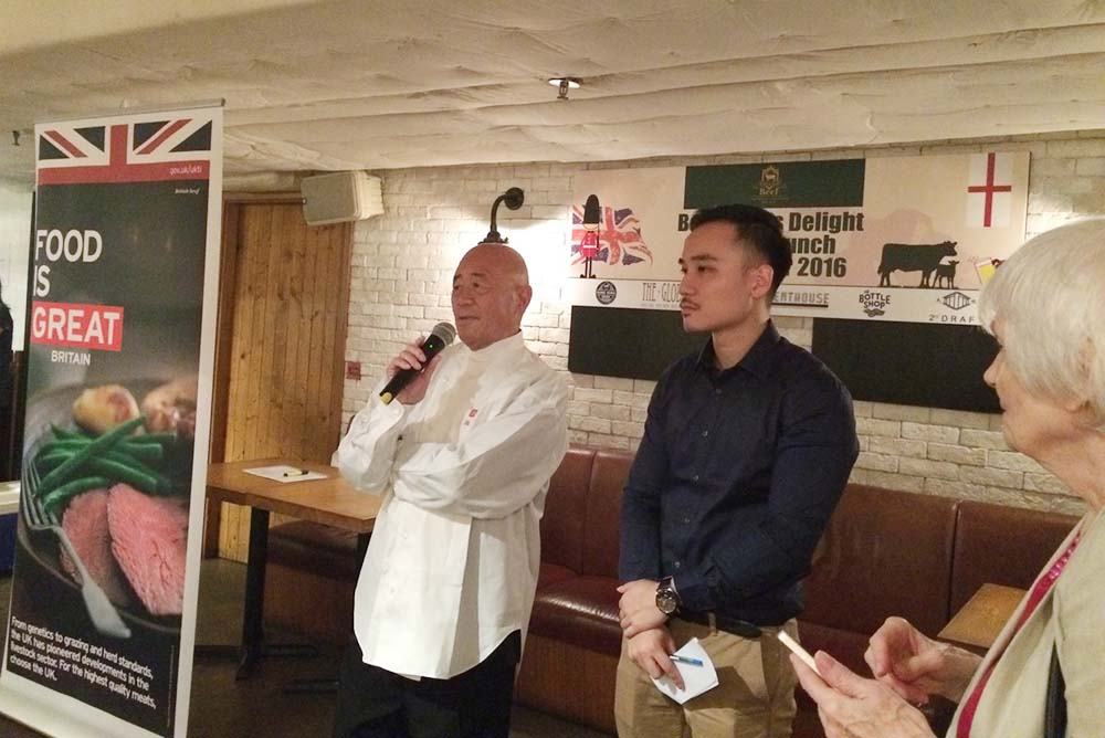 "BBC TV Chef Ken Hom launched ""A Beefeater's Delight"" at The Globe restaurant, serving savoury English beef dishes paired with refreshing craft beers from the UK"