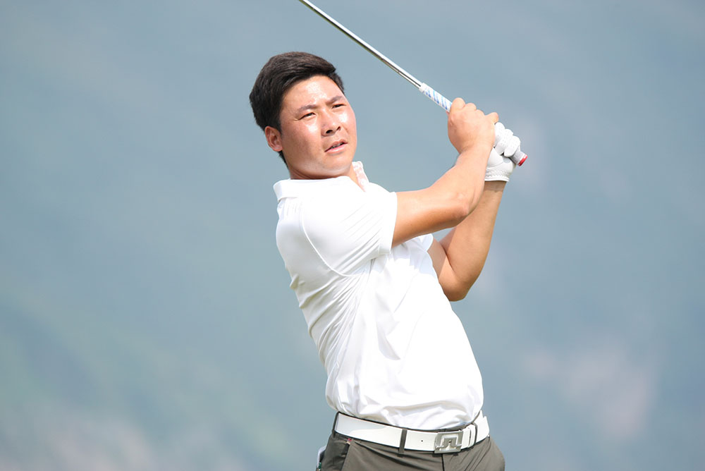Zhang Xinjun finished as China's leading player at the tournament (tied in fifth) with 12-under