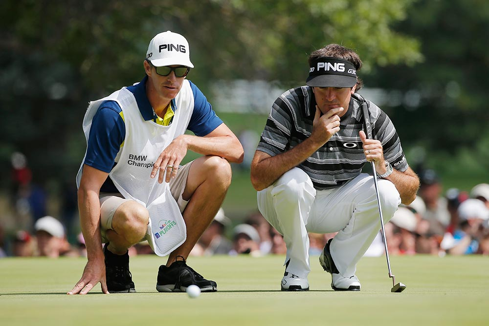 Bubba Watson has been caught by television cameras and microphones several times when yelling at his caddie, Ted Scott